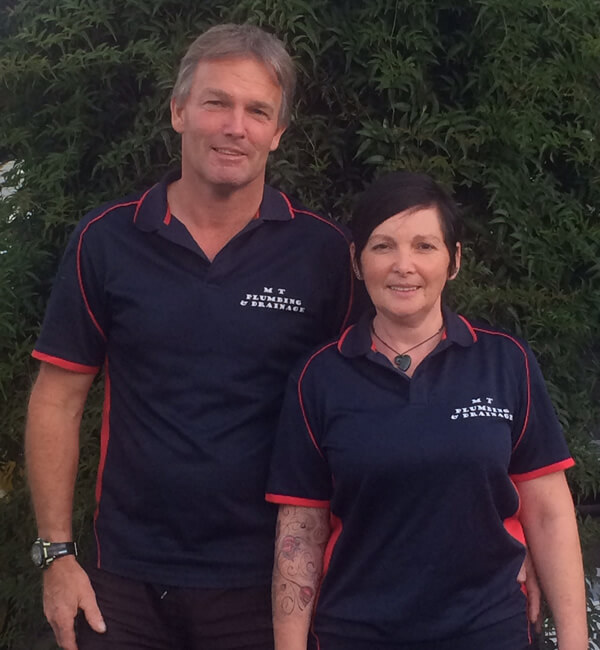 Mark Palmer And Tania Palmer Of MT Plumbing And Drainage Marlborough