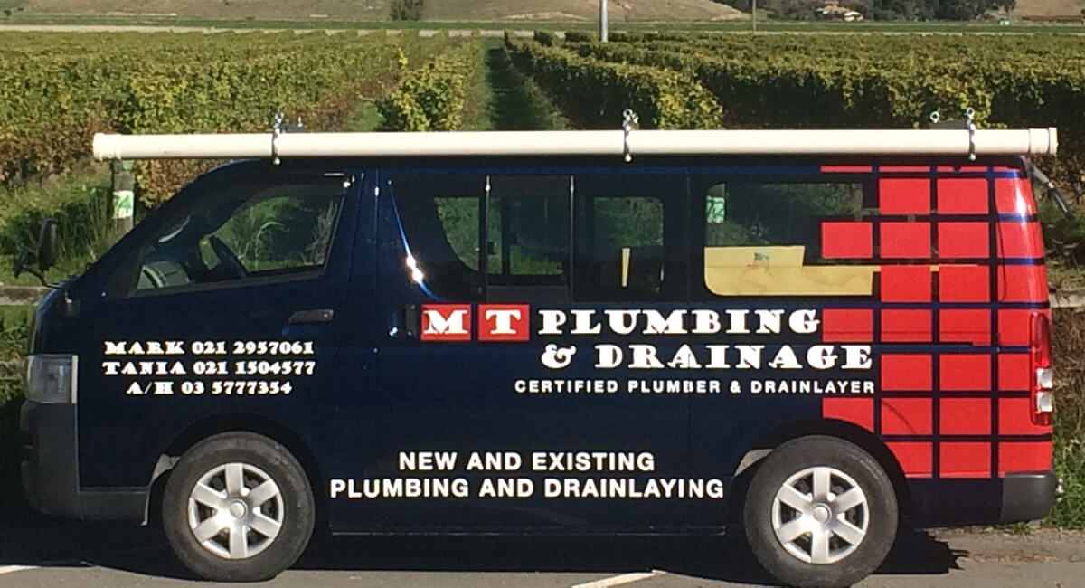Company Van For MT Plumbing And Drainage In Marlborough